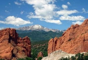World Famous Pikes Peak in Colorado Springs, Colorado
